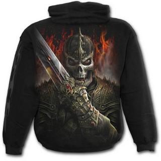 Sweat-shirt gothique homme avec guerrier dragon et scène de duel