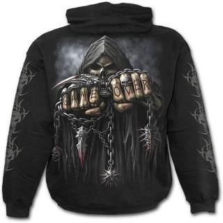 Sweat-shirt gothique homme avec la Mort à chaine de combat