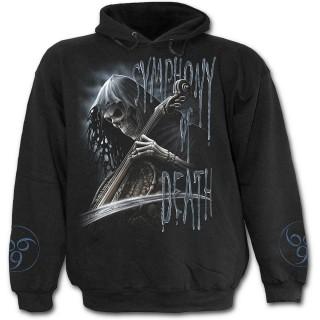 Sweat-shirt gothique homme avec La Mort jouant de la musique avec sa faux