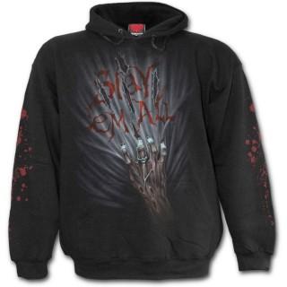 Sweat-shirt gothique homme avec mains de zombies tueurs