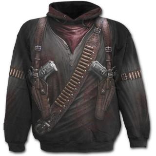 Sweat-shirt gothique homme avec motif imitation tenue de mercenaire