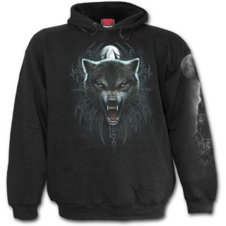 Sweat-shirt gothique homme avec Reine des loups et guerriers squelettes
