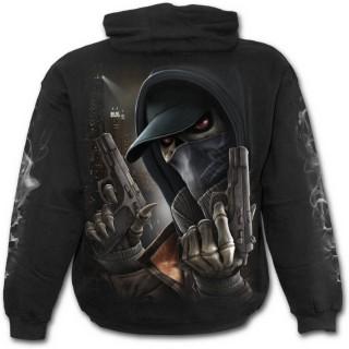 Sweat-shirt gothique homme avec squelette assassin des rues