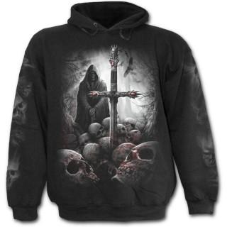 Sweat-shirt gothique homme avec squelette chercheur d'âmes