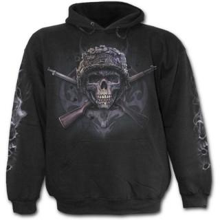 Sweat-shirt gothique homme avec squelette militaire