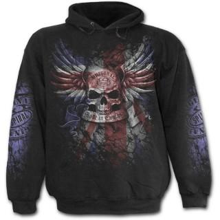 Sweat-shirt rock homme avec tête de mort sur drapeau Union Jack