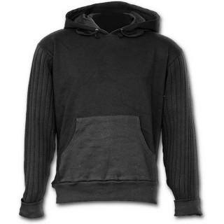 """Sweat-shirt gothique homme à capuche et manches pull style """"METAL STREETWEAR"""""""