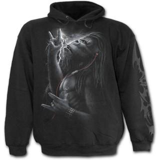 Sweat-shirt gothique homme à gorille tatoué tribal avec écouteurs
