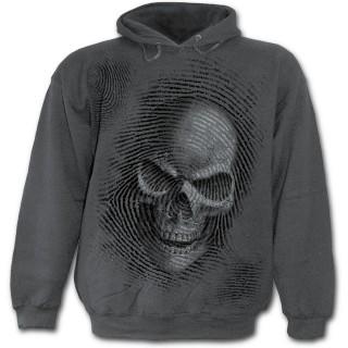 """Sweat-shirt gothique homme gris à avis de recherche """"La Mort"""""""