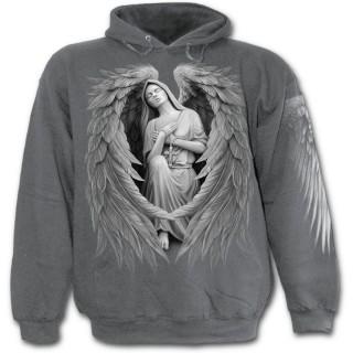 Image D Ange Homme achat sweat-shirt gothique homme gris avec vierge marie à ailes d