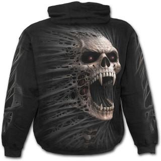 Sweat-shirt gothique homme imitation vampire déchirant le vêtement