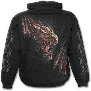 """Sweat-shirt gothique homme """"Libérez le dragon qui sommeil en vous"""""""
