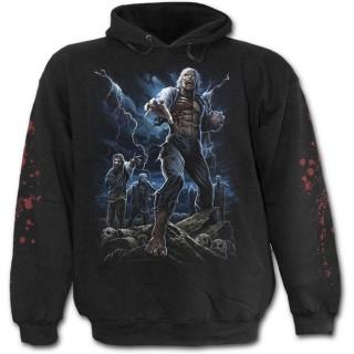 """Sweat-shirt gothique homme """"marche des morts"""" avec zombies et éclairs"""