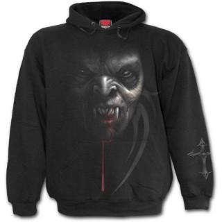 Sweat-shirt gothique homme réveil du vampire avec cerceuil