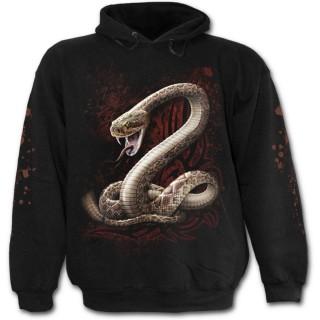 Sweat-shirt gothique homme à serpent avec langue piercée