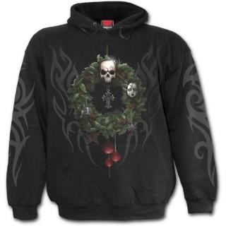 Sweat-shirt gothique homme spécial Noel avec crane de renne