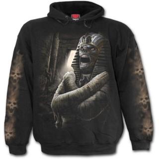 """Sweat-shirt homme gothique avec momie """"Malédiction du Pharaon"""""""