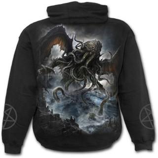 Sweat-shirt homme gothique avec monstre des profondeurs style Kraken