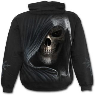 Sweat-shirt homme gothique avec squelette assassin et sablier de la mort