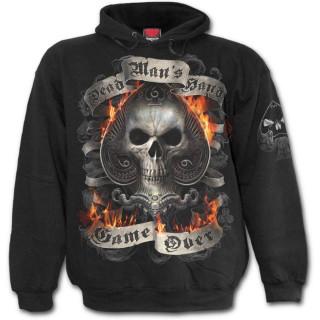 Sweat-shirt homme gothique à carré d'As de la Mort