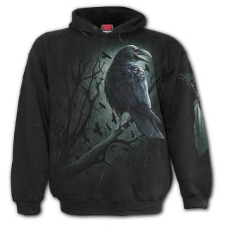 Sweat-shirt homme gothique à corbeau de l'ombre