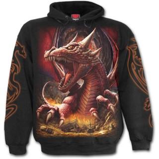"""Sweat-shirt homme gothique """"Le reveil du Dragon"""