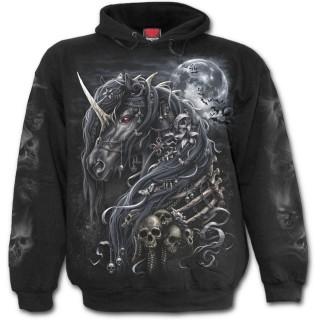 Sweat-shirt homme gothique à licorne des ténèbres