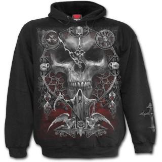 Sweat-shirt homme gothique à sablier sang des mots