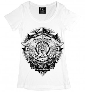 T-shirt femme gothique Locusts Scoop (B/N) - LA Mort Clothing