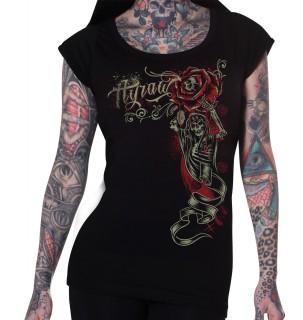 "T-shirt femme HYRAW modèle ""HARD LIFE"""
