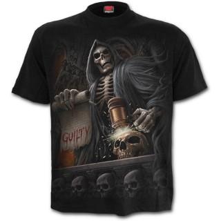 T-shirt gothique homme avec juge de la mort et bourreau à faux