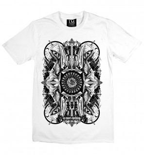 T-shirt gothique homme Four Skulls (B/W) - LA Mort Clothing