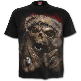 T-shirt homme à père Noel squelette rock