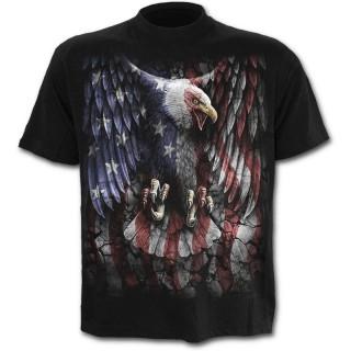 T-shirt homme avec aigle aux couleurs du drapeau des USA