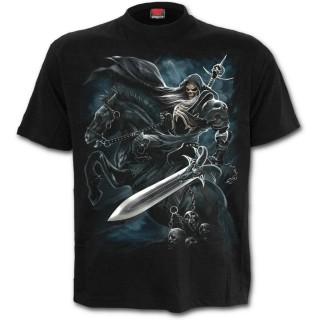 T-shirt homme avec cavalier de La Mort sur son cheval noir