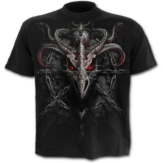 T-shirt homme avec dragons et chaines