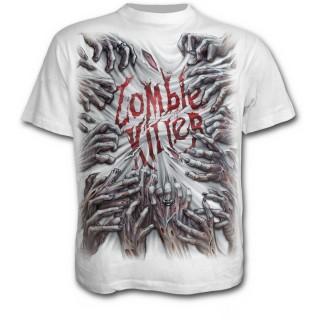 T-shirt homme avec mains de zombies tueurs - blanc
