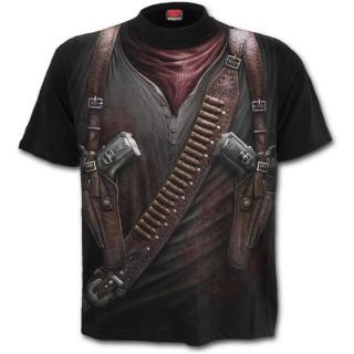 T-shirt homme avec motif imitation tenue de mercenaire