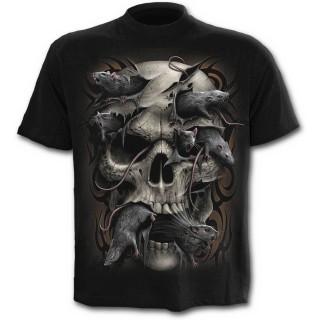 achat t shirt homme avec t te de mort et rats pas cher. Black Bedroom Furniture Sets. Home Design Ideas