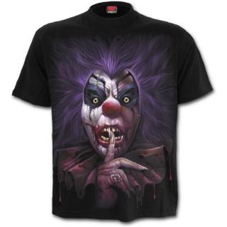 T-shirt homme gothique à visage de clown sanguinaire