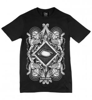T-shirt homme gothique Blind (BW/B) - LA Mort Clothing