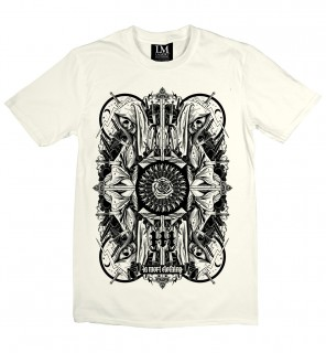 T-shirt homme gothique Four Skulls (B/N) - LA Mort Clothing