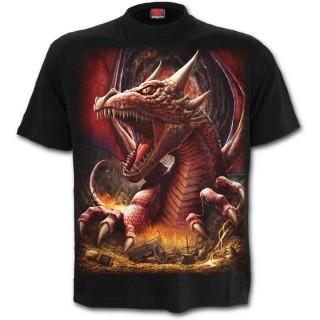 """T-shirt homme gothique """"Le reveil du Dragon"""