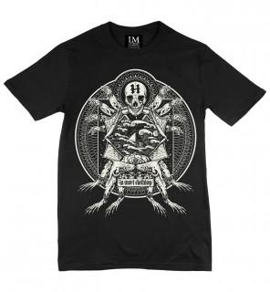 T-shirt homme gothique Poisoned Frog (BW/B) - LA Mort Clothing