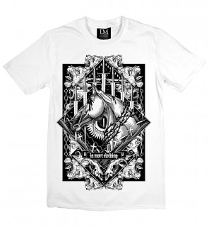 T-shirt homme gothique Swords and Horse (B/W) - LA Mort Clothing