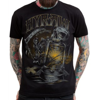 "T-shirt homme HYRAW modèle ""DARK NIGHT - INTO THE DARKNESS"""
