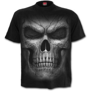 T-shirt homme noir à crane fantomatique