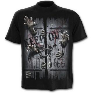 T-shirt homme noir à zombies enfermés