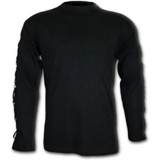T-shirt rock homme à manches longues décorées de tresses