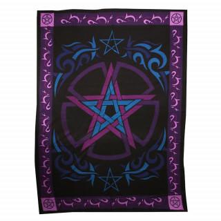 Tapisserie en toile coton à pentacles / pentagrammes